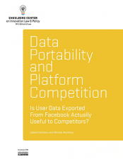 Data Portability and Platform Competition cover