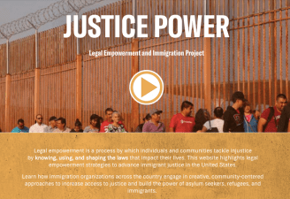 Picture of the Justice Power website