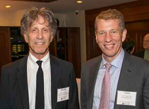 Mitchell Jacobson and Dean Trevor Morrison at the Mitchell Jacobson tenth anniversary event