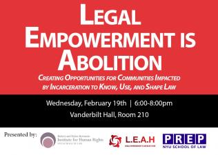 Legal Empowerment is Abolition Poster