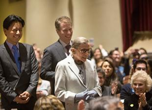 Ruth Bader Ginsburg with Kenji Yoshino and Dean Trevor Morrison