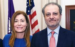 Photo of Anne Milgram and Preet Bharara