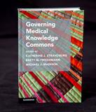"""Governing Medical Knowledge Commons"" book cover"