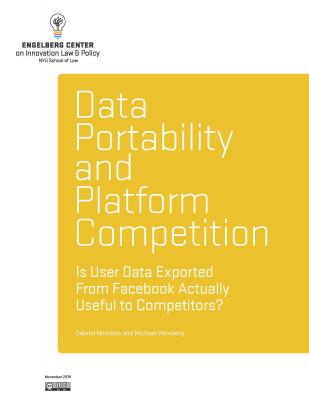 Data Portability and Platform Competition - Is User Data Exported From Facebook Actually Useful to Competitors? Cover Image