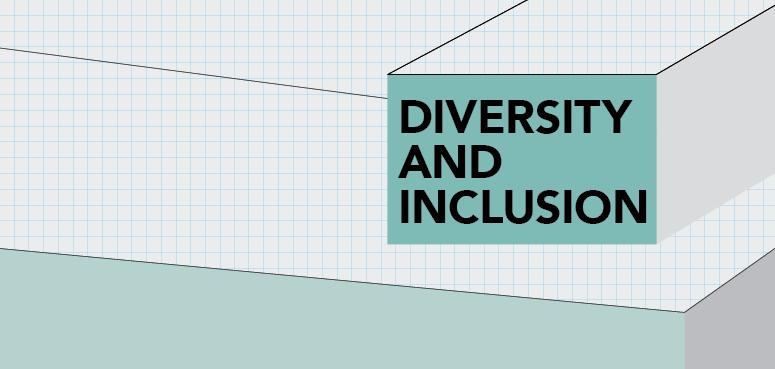 Stacked box on graph paper, says Diversity and Inclusion