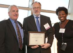 Kevin Anterline accepting NYU Distinguished Administrator Award