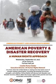 American Poverty & Disaster Recovery Poster