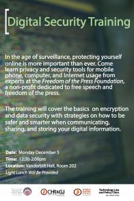 Digital Security Training Poster