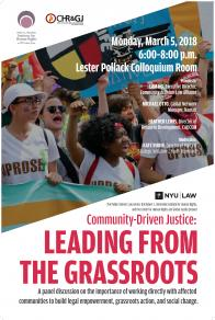 Community Driven Justice Poster